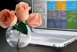פרחים - תיק רפואי דרך המחשב