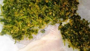 הדג בציפוי פסטו