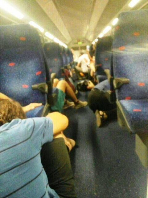 וסעי הרכבת התבקשו להתכופף (צילום מסך)