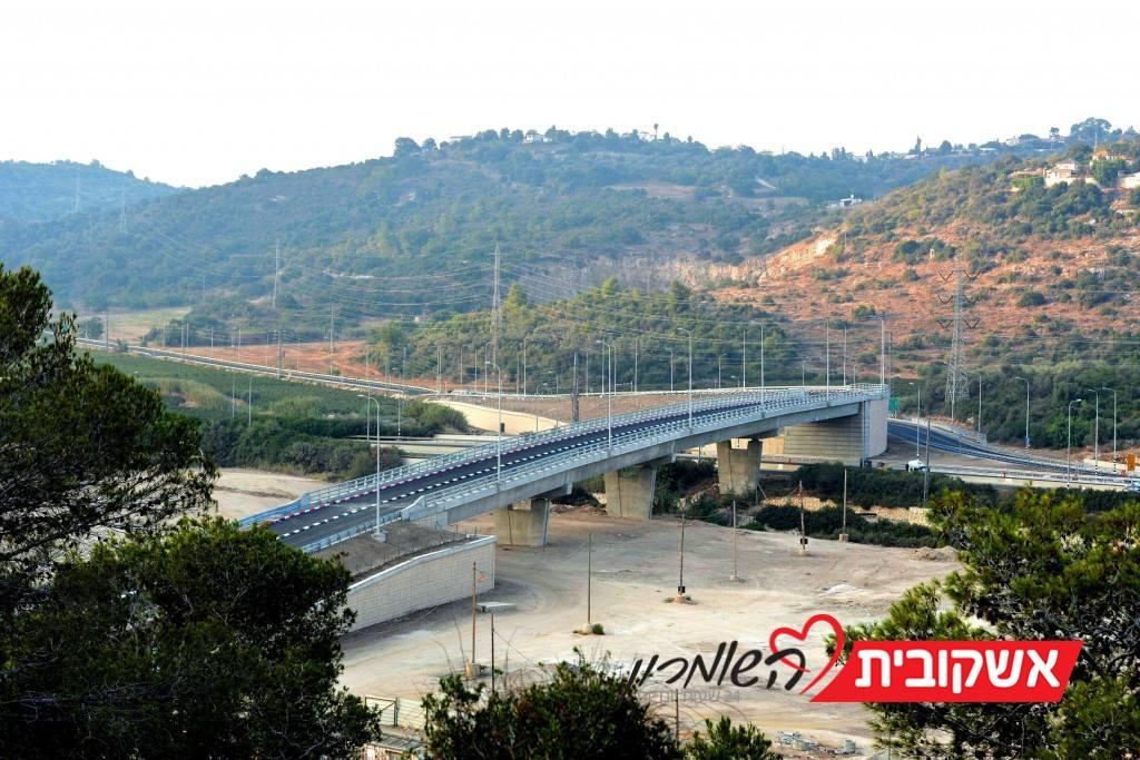 כביש 70 המשודרג, גשר הכניסה מזרחית לפוריידיס וכביש העלייה לזיכרון יעקב (4)
