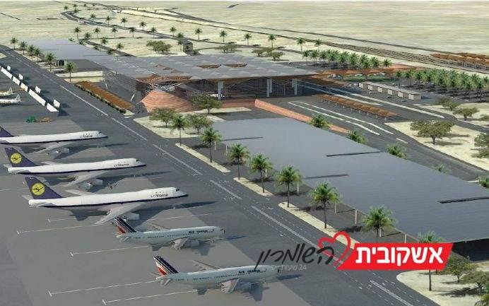 הדמיה של נמל התעופה בתמנע. משרד התחבורה